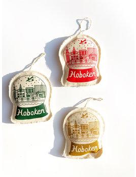 Maptote Hoboken Snowglobe Canvas Ornament