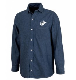 West Virginia Bison Denim Shirt