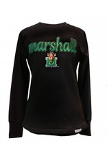 Marshall U Ladies Reverse Crew Sweatshirt