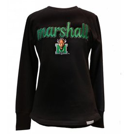 Marshall U Ladies Reverse Crew Sweatshirt