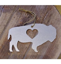 Iron Maid Art Iron Maid Bison Christmas Ornament