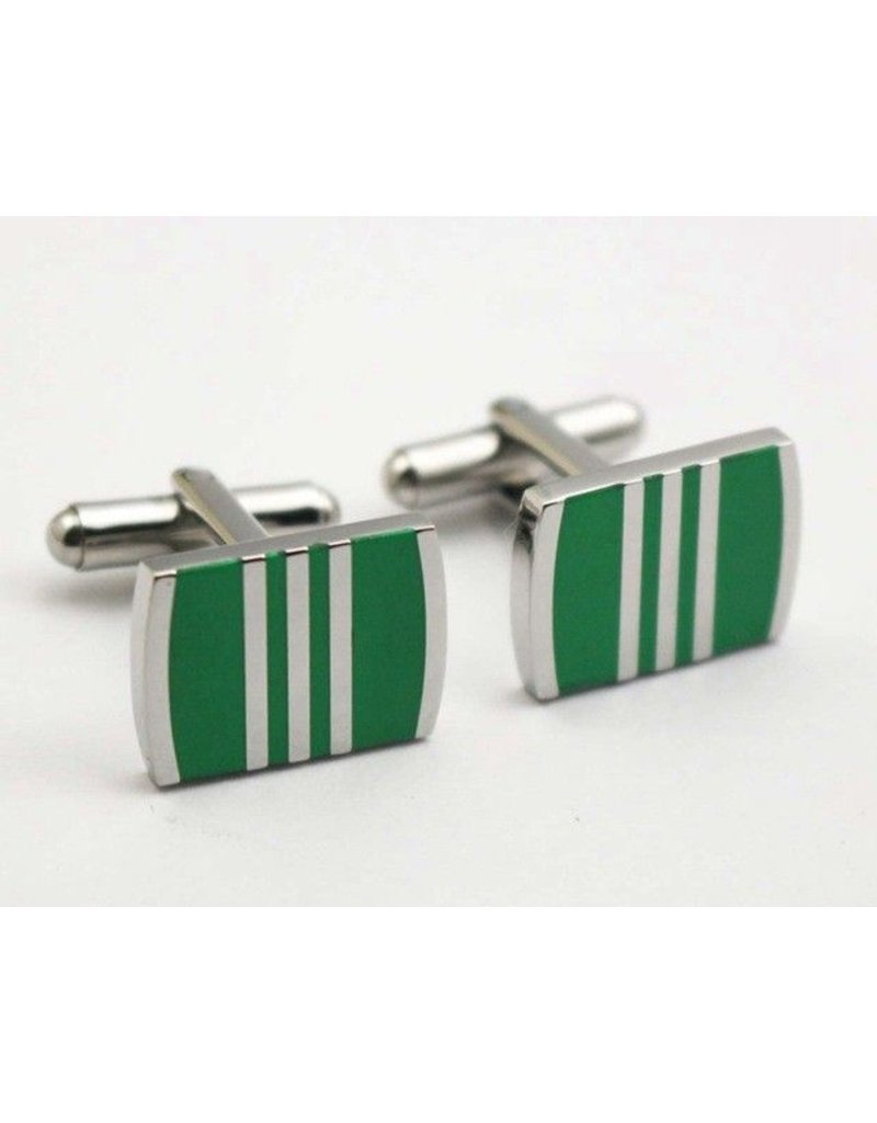 Green Rectangle Cufflinks