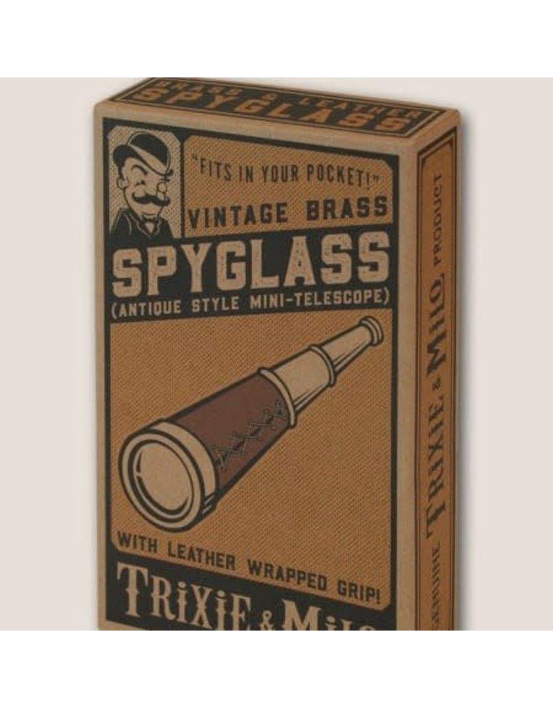 Trixie and Milo Vintage Brass Spyglass