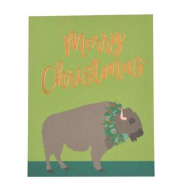 Buffalo Foil Christmas Card