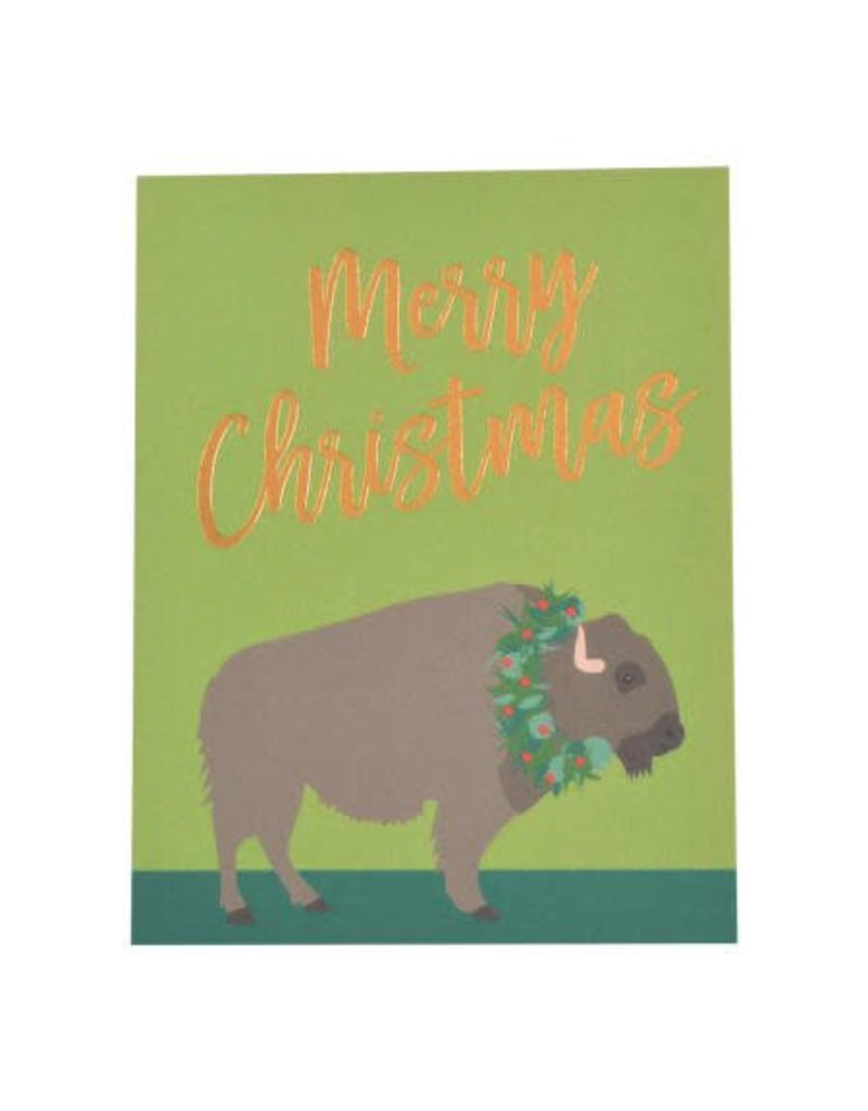 Buffalo Foil Christmas Card Box of 6