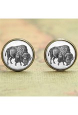 Antique-look Buffalo Earrings