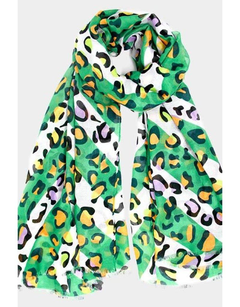 Green Leopard Scarf