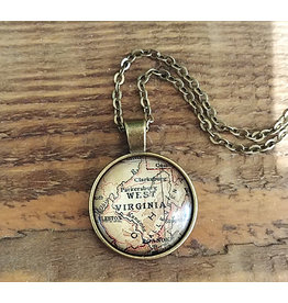 West Virginia Map Necklace