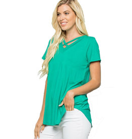 Cross Front Stretch Tee