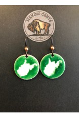 Making Cent$ Torch-Fired Enamel WV Penny Earrings