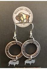 Making Cent$ WV Quarter w/ Bison Dangle Earrings