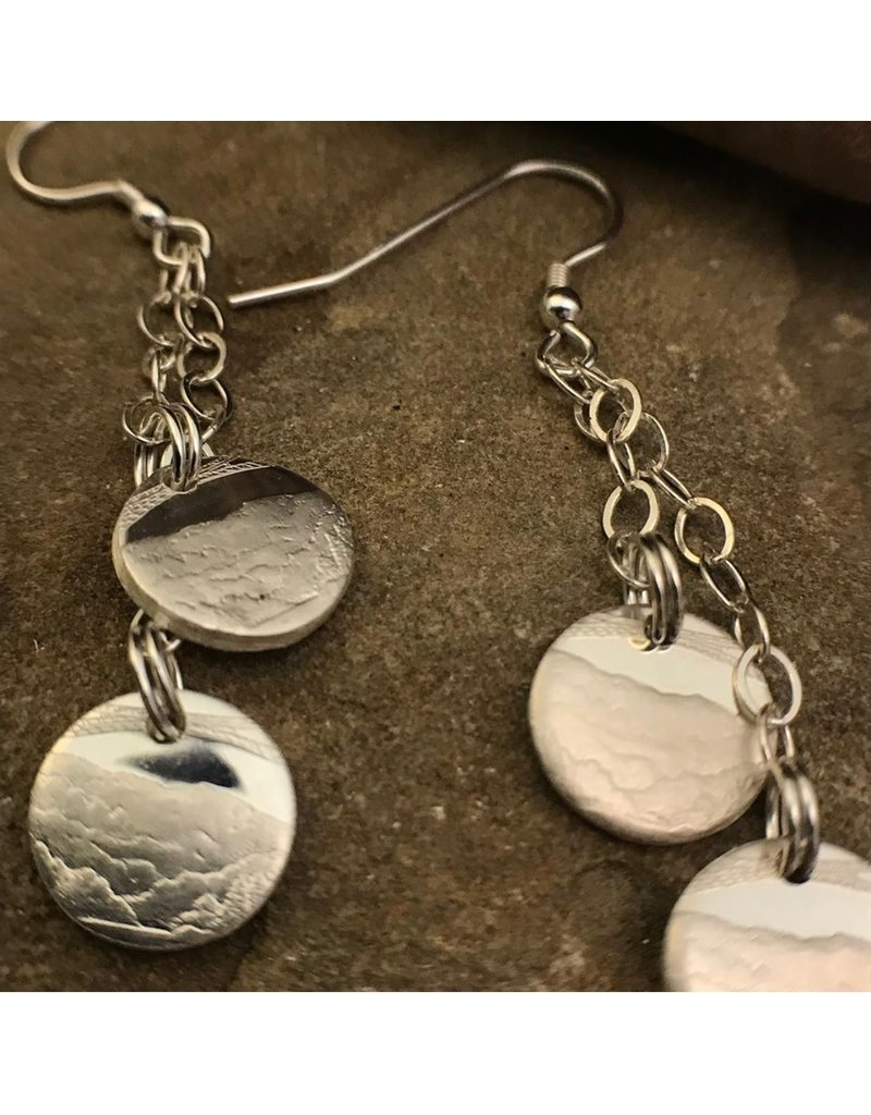 Making Cent$ WV Quarter Silver 2 Dangle Earrings