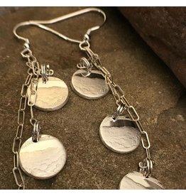 Making Cent$ WV Quarter Silver 3 Dangle Earrings