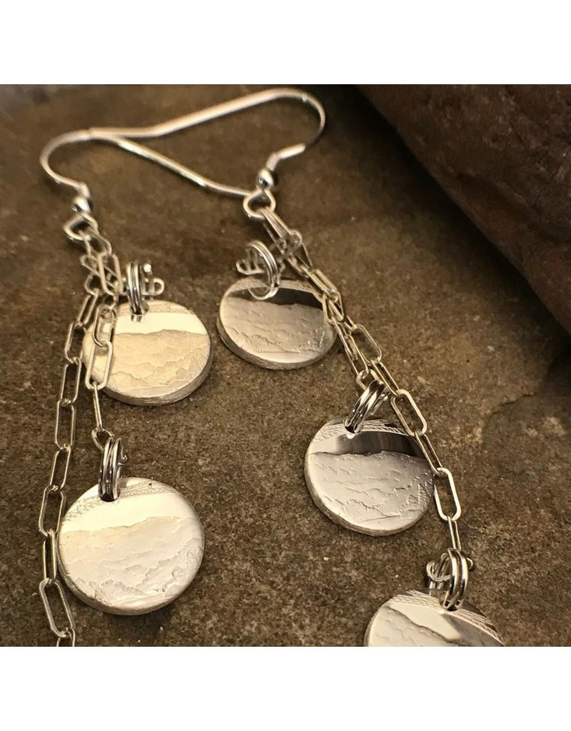 Making Cent$ WV Quarter Silver 3 Dangle Earrings