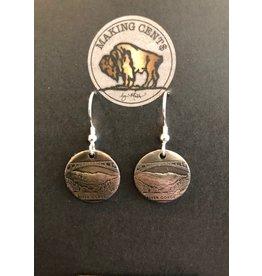 Making Cent$ WV Quarter Center Earrings
