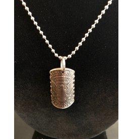 Making Cent$ Half Dollar Shield Necklace