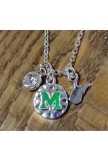 Nitro USA Marshall Hammered Charm Necklace