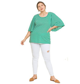 Umgee Bell Sleeve Stripe Top