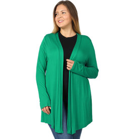Draped Stretch Cardigan-Plus
