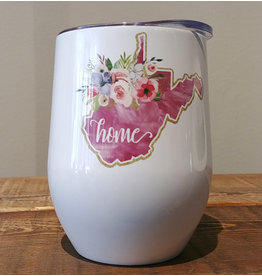 West Virginia Floral Travel Mug