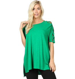 Cross Shoulder Tee-Misses
