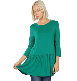 Long Sleeve Peplum Tee