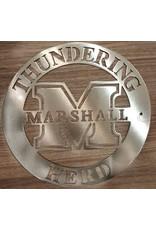Marshall Circle Logo Metal Art