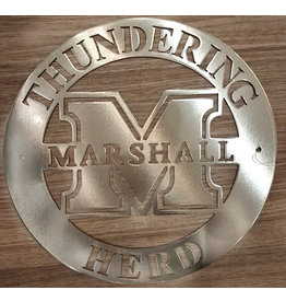Marshall Circle Logo Metal Art