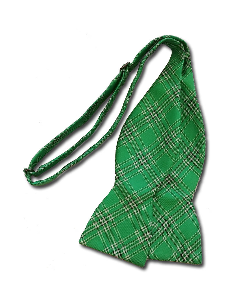 Marshall University Tartan Silk Bow Tie