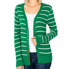 Fine Knit Stripe Cardigan