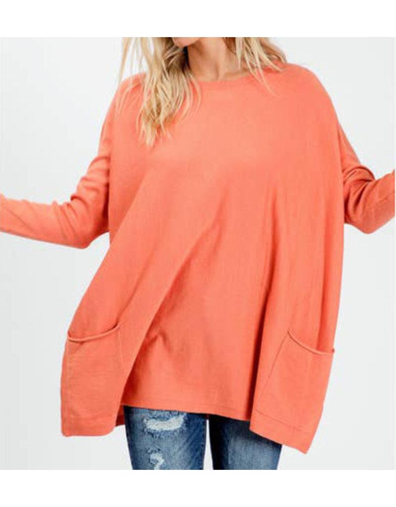 Oversized Crew Sweater-Plus