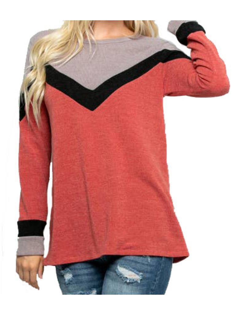 Chevron Sweater Plus