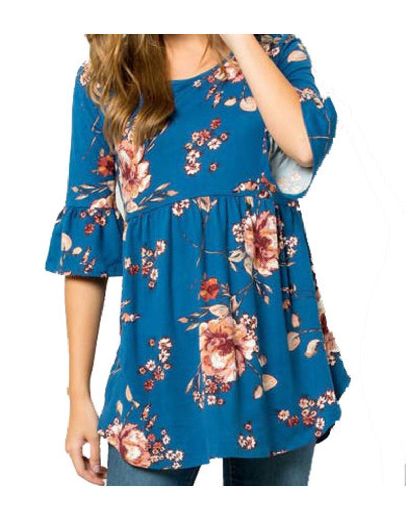 Floral Jersey Babydoll Plus