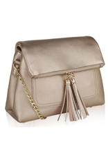MK Farrow Foldover Handbag/ Crossbody Gold