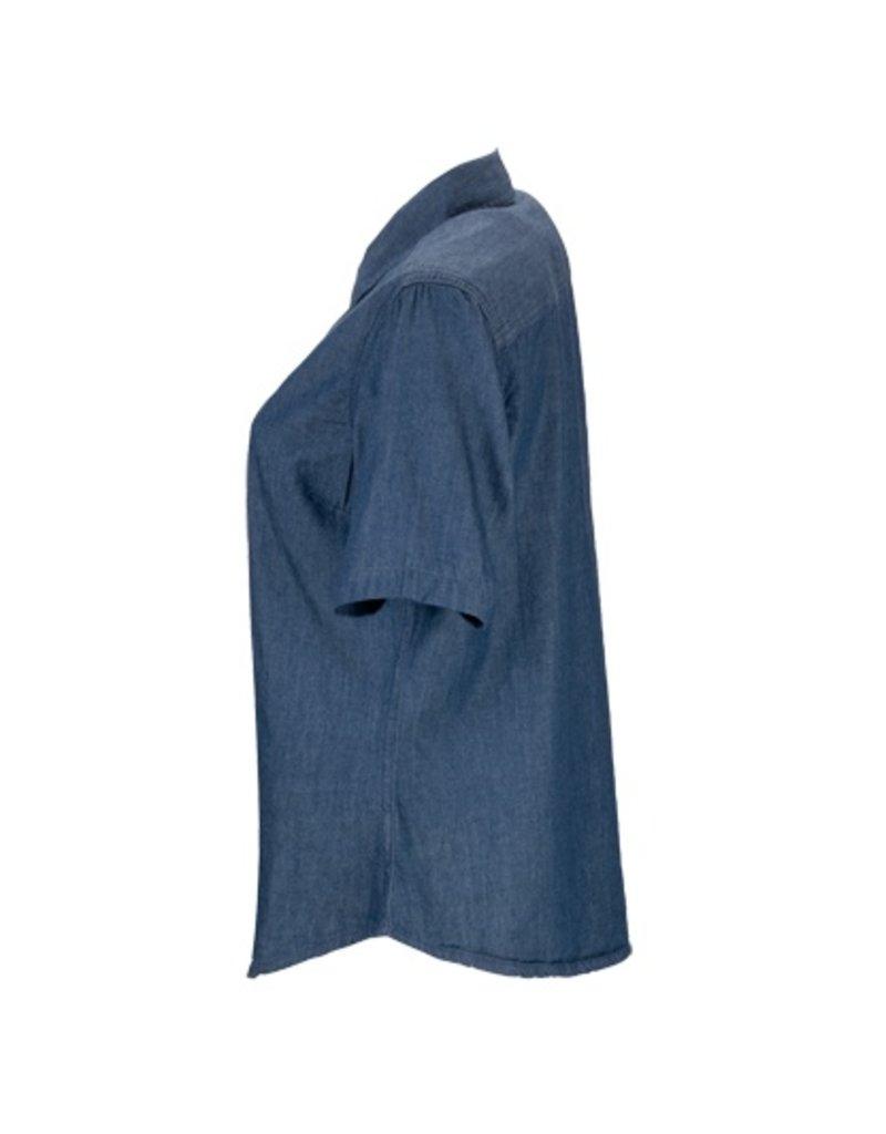 Marshall University Women's Short-Sleeve Hudson Denim Shirt