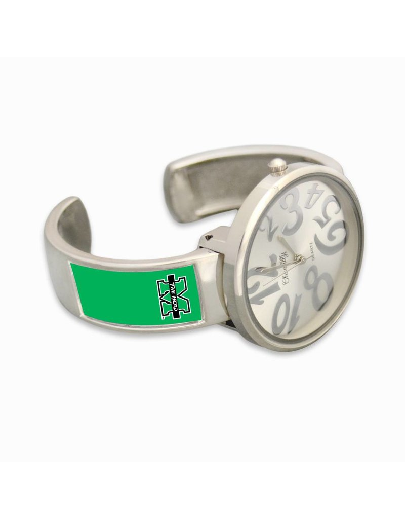 Marshall University The Herd Round Deco Cuff Watch