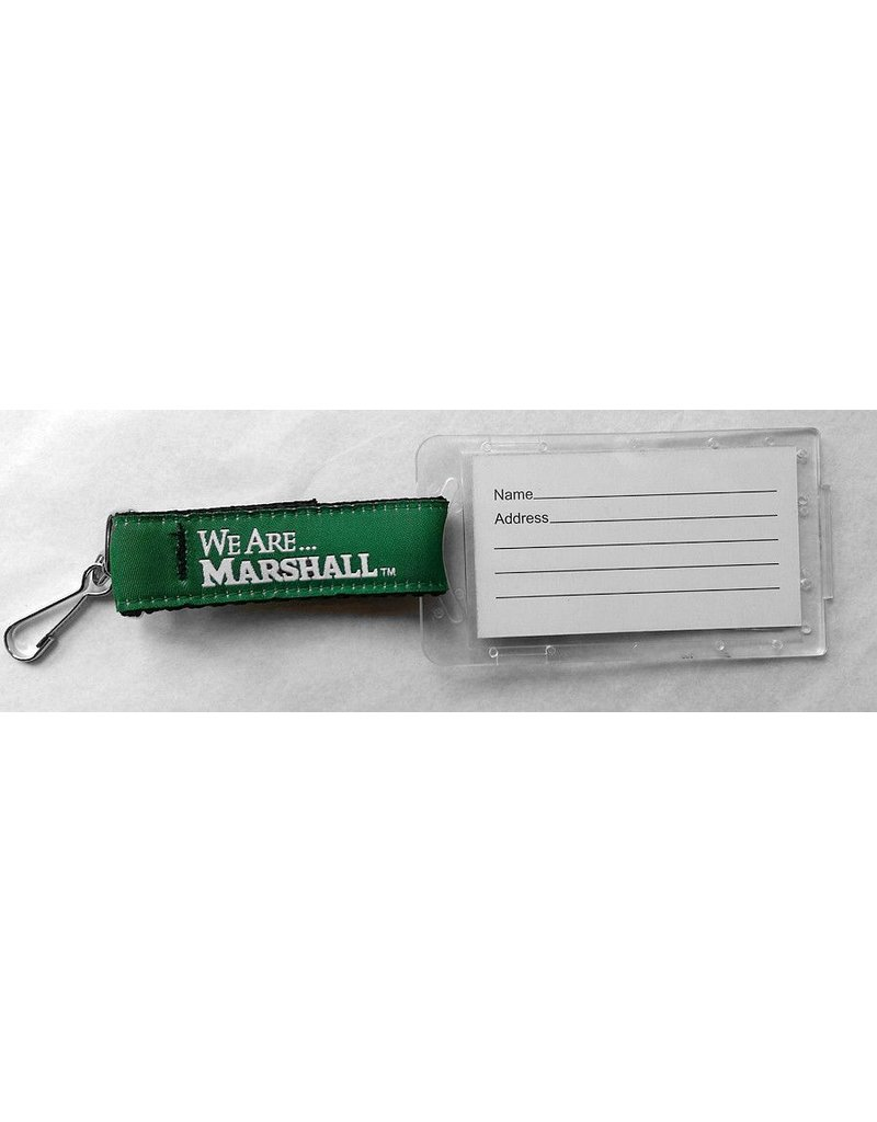 Marshall University Ribbon Luggage Tag