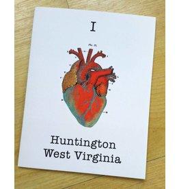 I Heart Huntington, WV Greeting Card