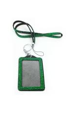 Green Bling Badge Holder/Lanyard