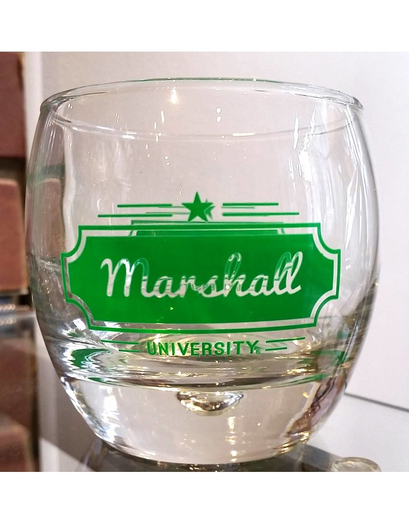 Marshall University 11oz Oxygen Rocks Glass