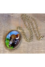 Buffalo Pendant Necklace