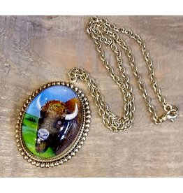 Buffalo Pendant Necklace