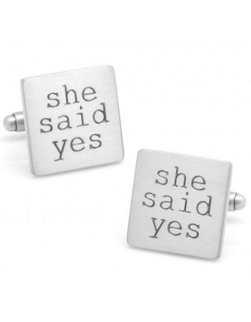 She Said Yes Cufflinks