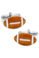 Enamel Cufflinks-Football