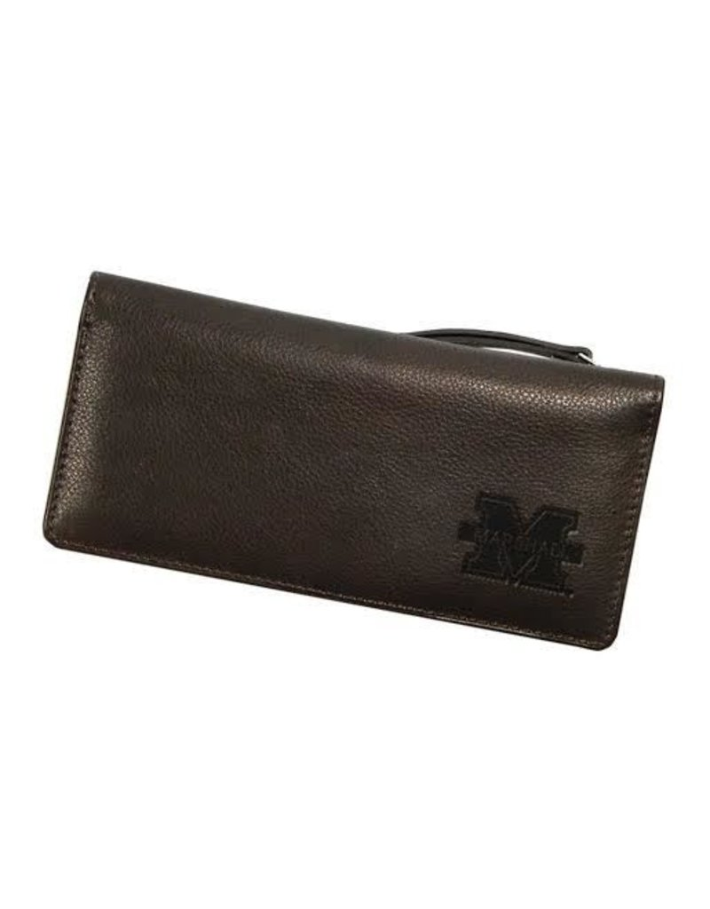 Marshall University Leather Clutch Wallet