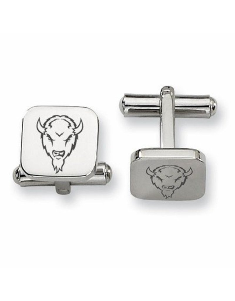 Collegiate Bead Company Marshall University Stainless Square Cufflinks-Marco