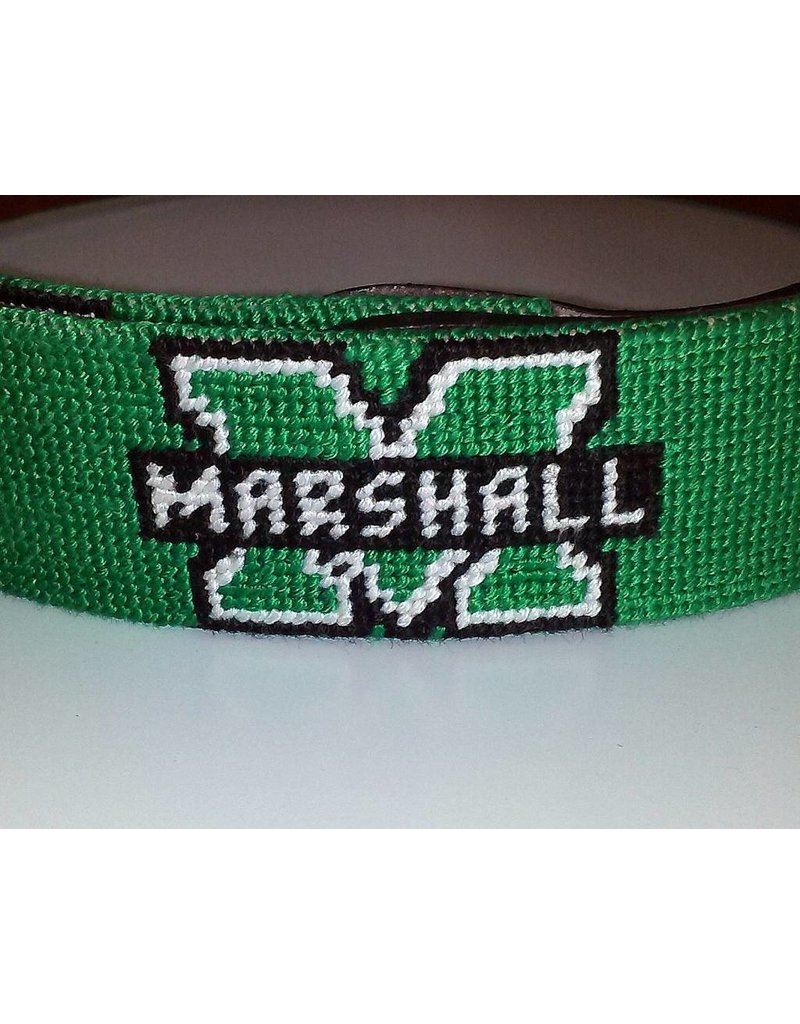 Smathers and Branson Marshall University Smathers & Branson Needlepoint Belt