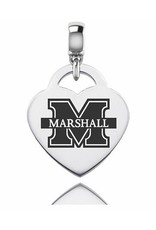 Collegiate Bead Company Marshall University Thundering Herd Silver Heart Dangle Bead
