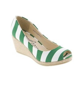 LillybeeU Marshall University Green & White Wedge