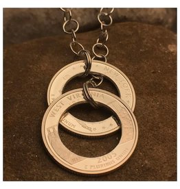 Making Cent$ Double State Quarter Lariat Necklace-Special Order